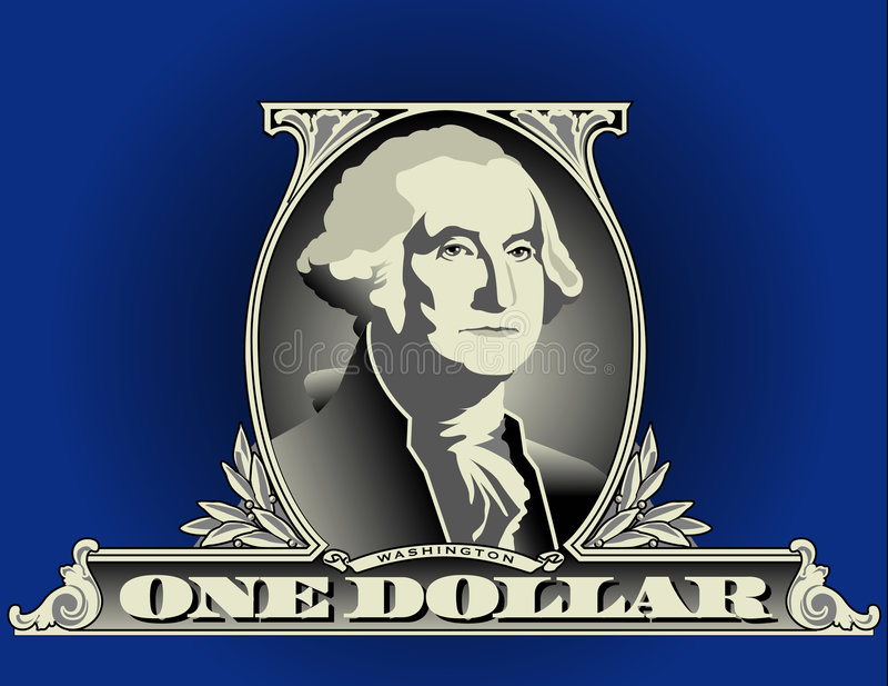 Het detail van de één dollarrekening vector illustratie