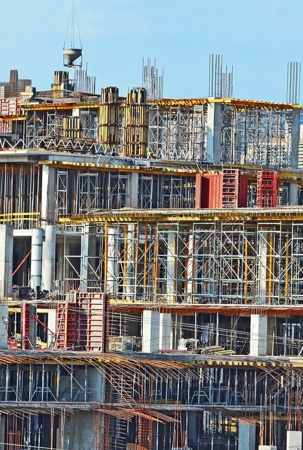 Het detail van de bouwconstructieplaats stock afbeelding