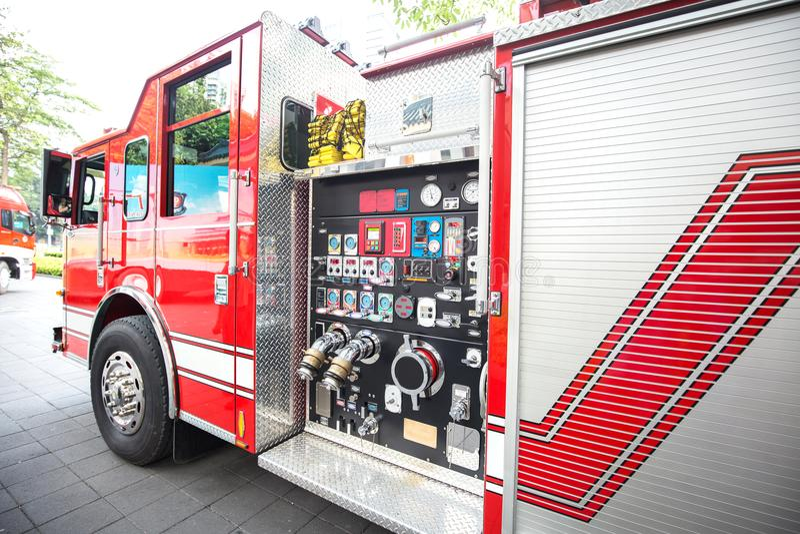 Het detail van de brandmotor stock afbeeldingen