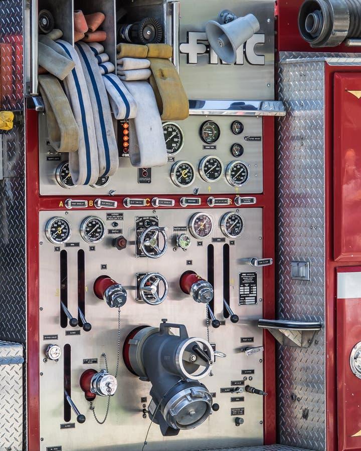 Het detail van de brandmotor stock foto's