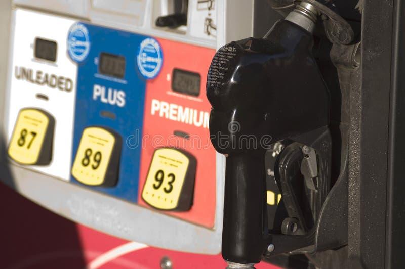 Het detail van de brandstofpomp stock fotografie