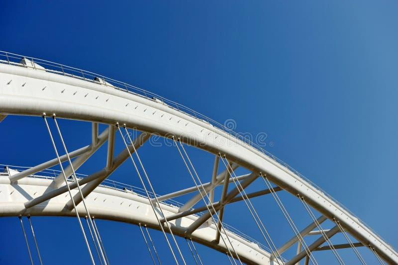 Het detail van de brug stock afbeelding