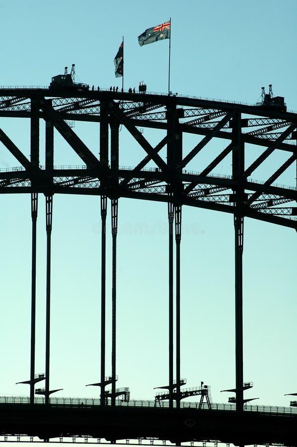 Het detail van de brug stock afbeeldingen