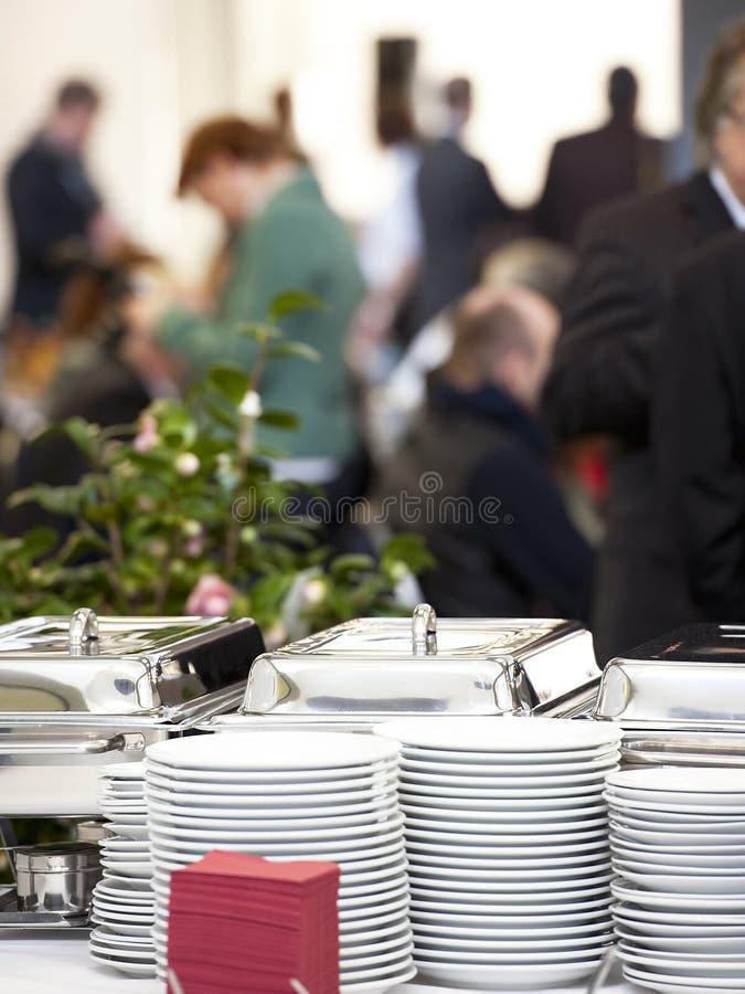 Het detail van de catering stock fotografie