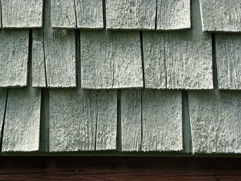 Het detail van de close-up van houten dakspanen royalty-vrije stock foto