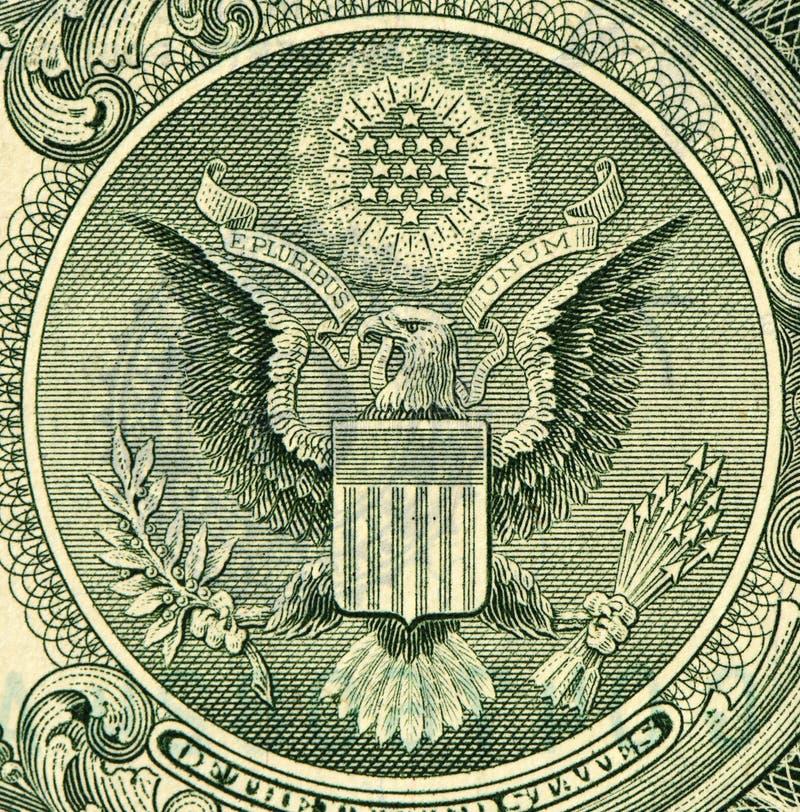 Het Detail van de Grungedollar perfect aan gebruik stock afbeelding