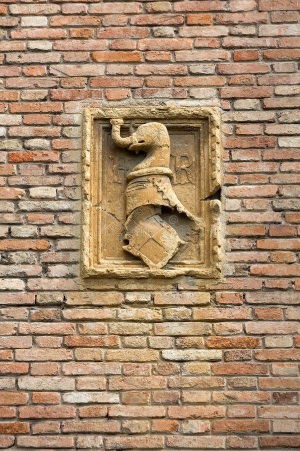 Het detail van de Kerk van Eremitani is een kerk Van Augustinus van de 13de eeuw Padua, royalty-vrije stock foto's