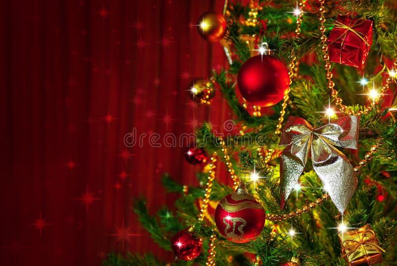 Het Detail van de kerstboom stock foto