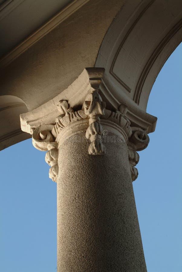 Het detail van de kolom stock fotografie