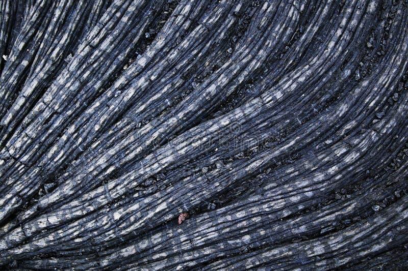 Het Detail van de Lava van de kabel, Hawaï royalty-vrije stock afbeelding