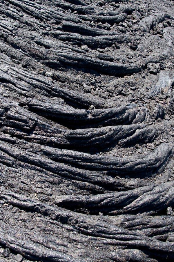 Het Detail van de Lava van Pahoehoe royalty-vrije stock afbeeldingen