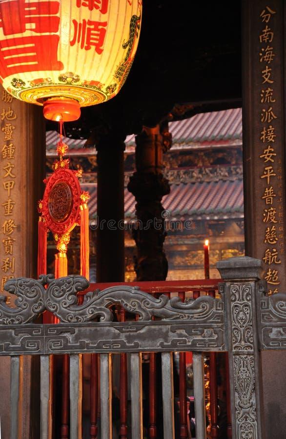 Het detail van de Longshantempel Taipeh, Taiwan stock foto's