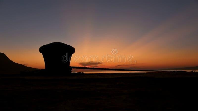 Het detail van de meertros in zonsondergang 1 royalty-vrije stock afbeeldingen