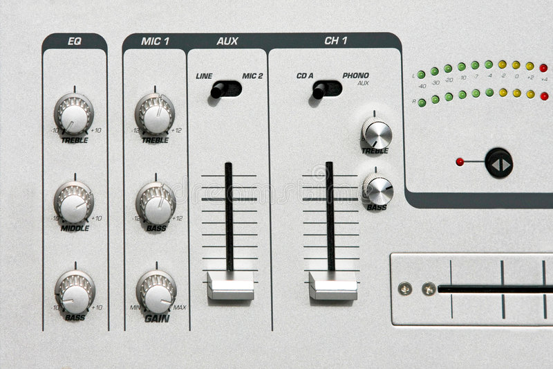 Het detail van de mixer stock fotografie