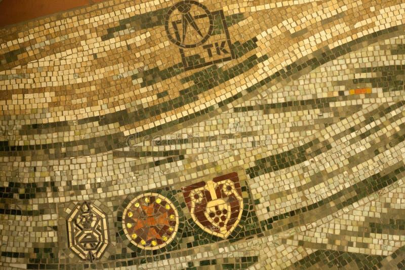 Het detail van de mozaïekvloer stock foto's