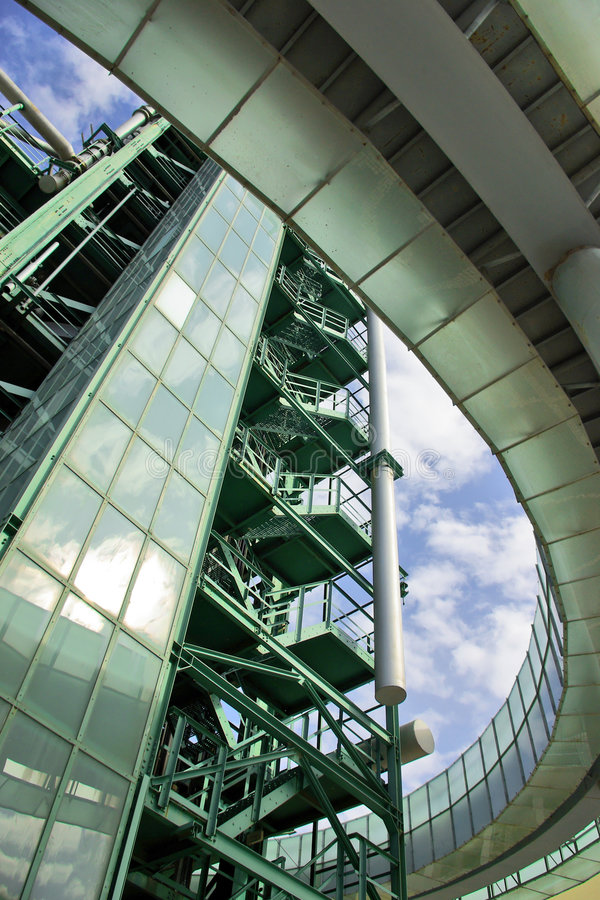 Het Detail van de raffinaderij stock afbeeldingen