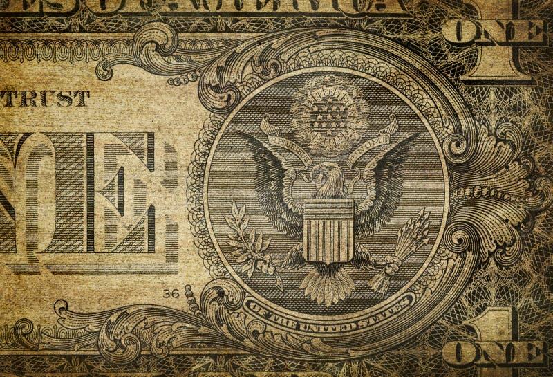 Het Detail van de Rekening van de dollar stock afbeelding