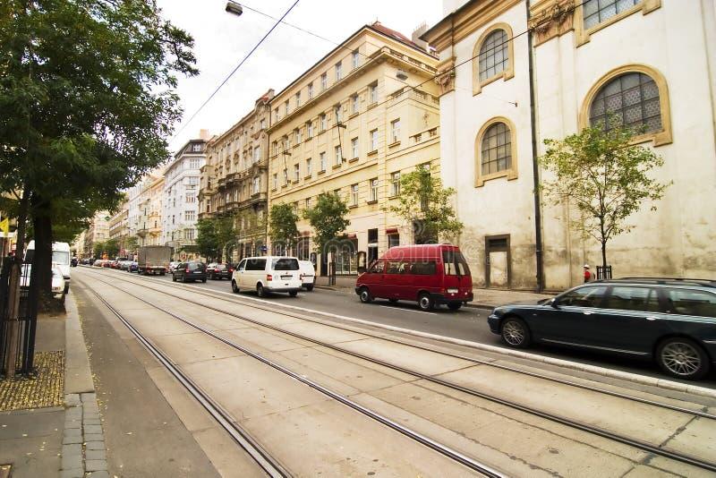 Het Detail van de Straat van Praag royalty-vrije stock foto's