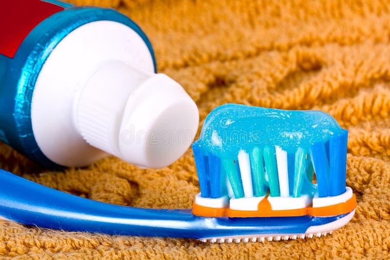 Het detail van de tandenborstel. stock afbeeldingen