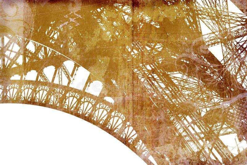 Het detail van de Toren van Eiffel van Grunge stock illustratie