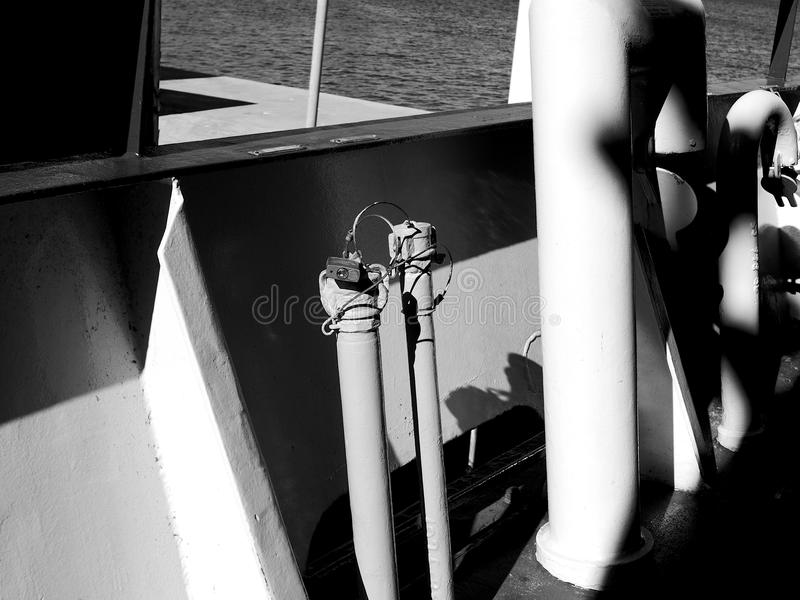 Het detail van de veerbootpijp royalty-vrije stock afbeelding