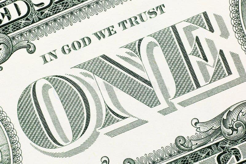Het detail van het één dollarbankbiljet royalty-vrije stock afbeelding