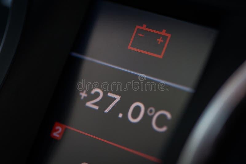 Het detail van het batterijpictogram stock fotografie