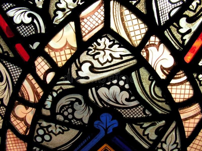 Het detail van het gebrandschilderd glas stock fotografie