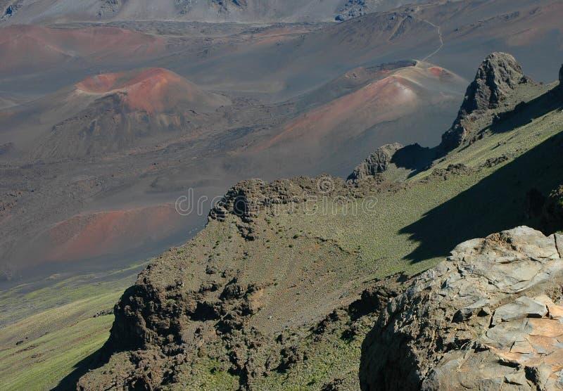Het Detail van het Landschap van Haleakala stock afbeelding