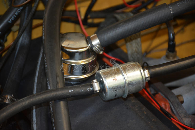 Het detail van het motorcompartiment royalty-vrije stock fotografie