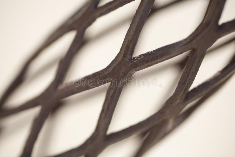 Het Detail van het Netwerk van het smeedijzer royalty-vrije stock afbeelding
