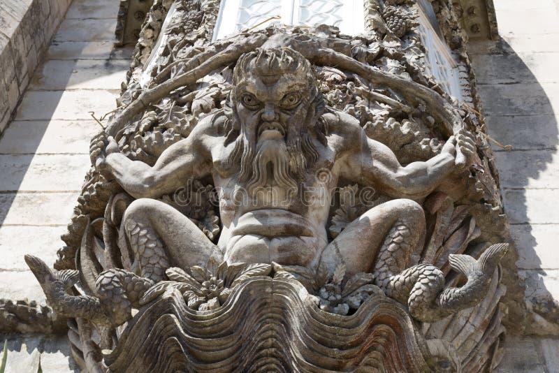 Het detail van het Paleis van Pena, in Sintra, Portugal stock afbeelding