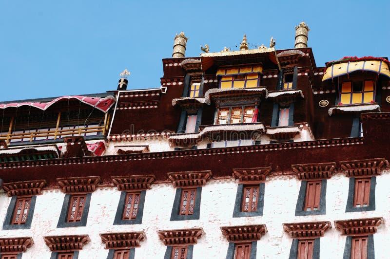 Het detail van het Paleis van Tibet Potala stock foto's