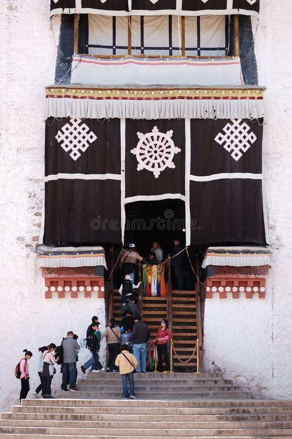 Het detail van het Paleis van Tibet Potala stock afbeelding