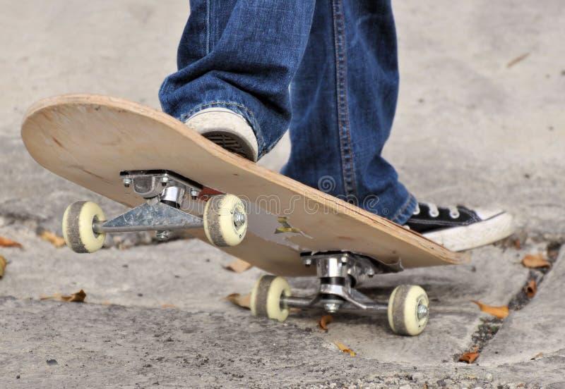 Het detail van het skateboard stock afbeelding