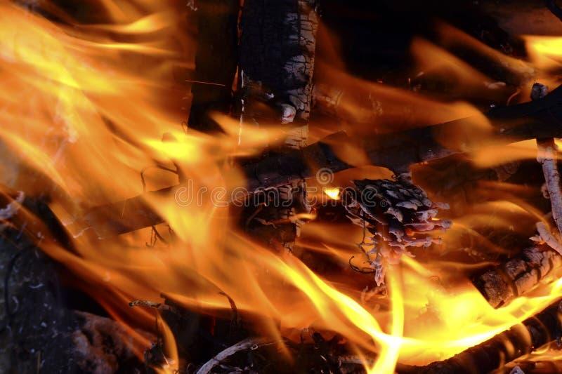 Het Detail van het vuur stock afbeeldingen