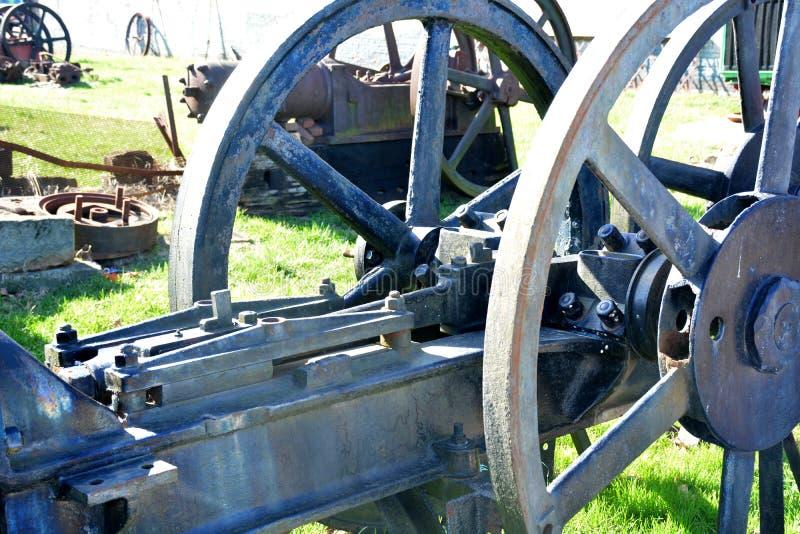 Het detail van het ijzerwiel stock afbeelding