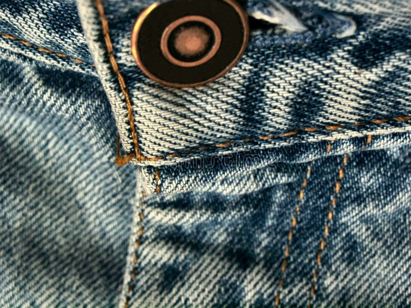 Het Detail Van Jeans Stock Afbeeldingen