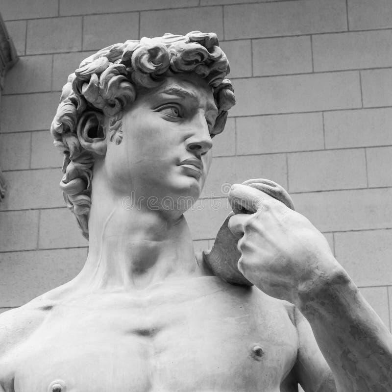 Het detail van standbeeld - David door Michelangelo stock fotografie