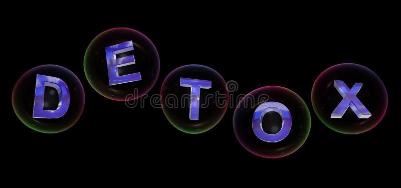 Het detoxwoord in bel stock illustratie