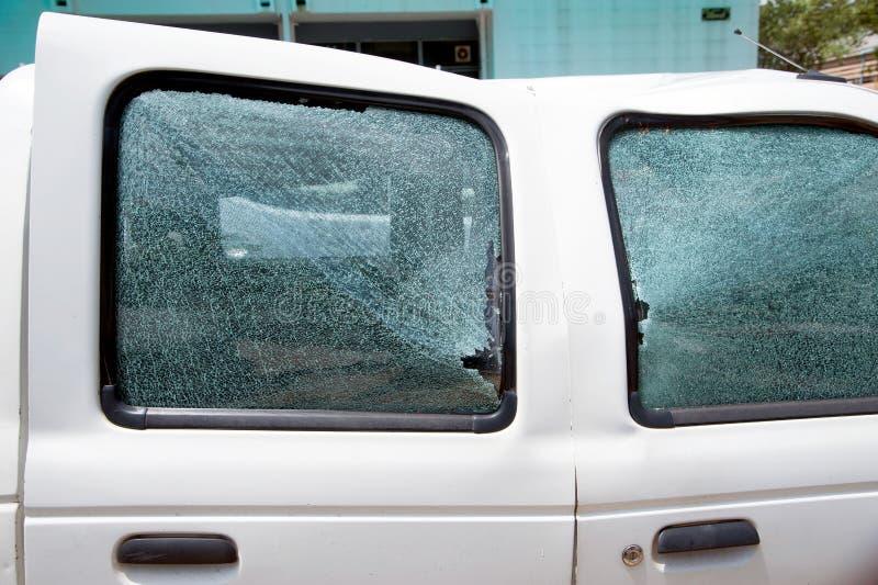 Het deurglas is gebroken royalty-vrije stock afbeelding