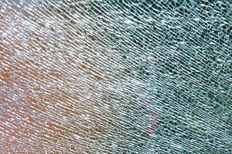 Het deurglas is gebroken royalty-vrije stock foto's