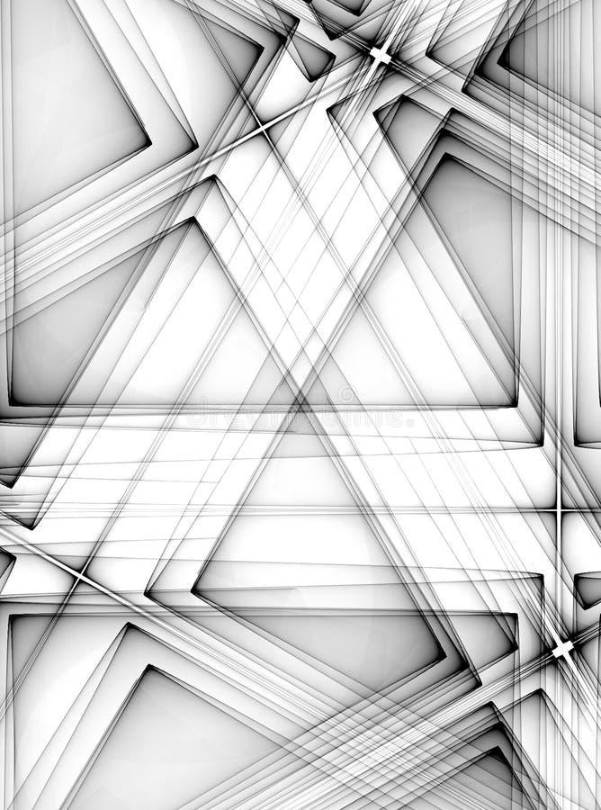 Het diagonale Zwarte Patroon van Lijnen vector illustratie