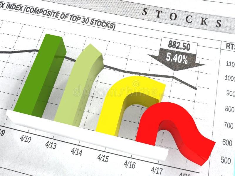 Het diagram van daling royalty-vrije stock afbeeldingen