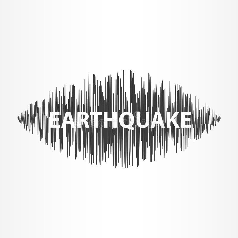 Het diagram van de aardbevingsgolf royalty-vrije illustratie