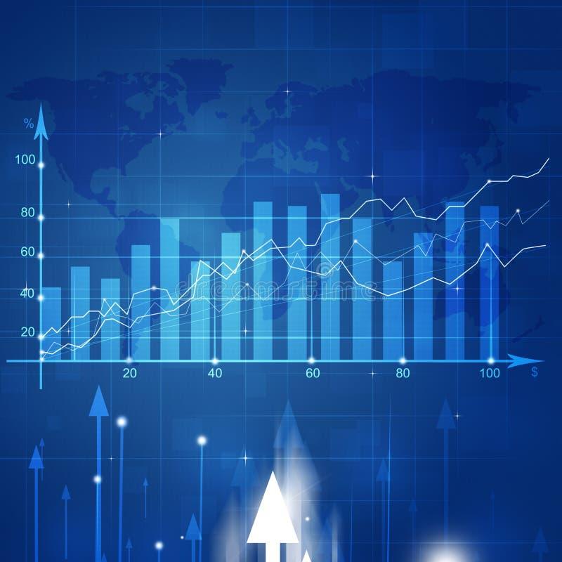 Het Diagram van de bedrijfsmarktvoorraad stock illustratie