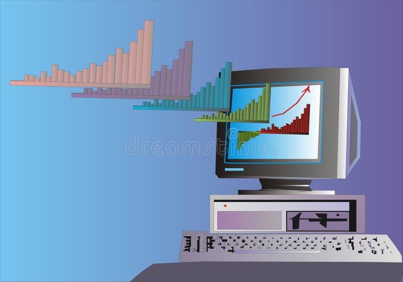 Computerdiagram royalty-vrije stock fotografie