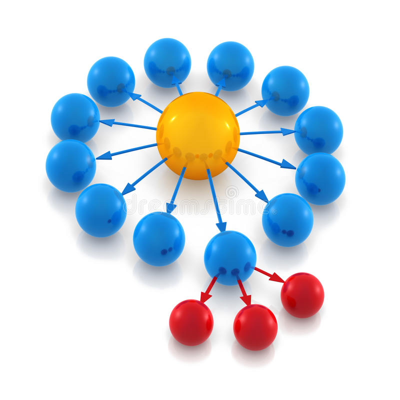 Het diagram van de hiërarchie vector illustratie