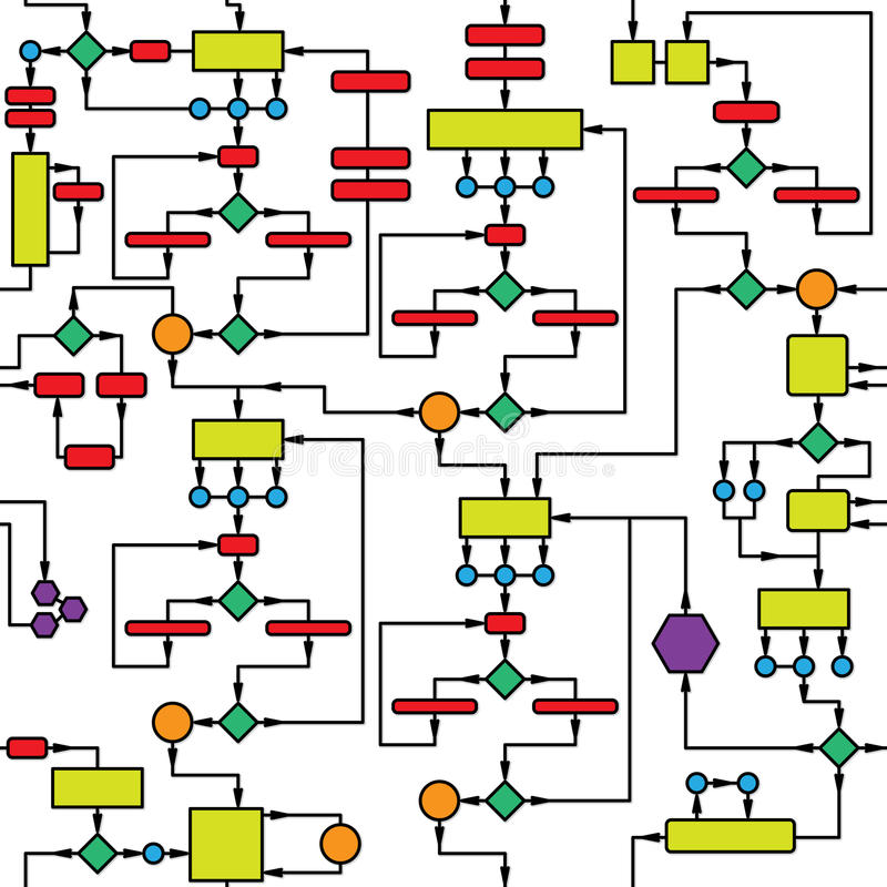 Het diagram van de kleur - naadloze vectortextuur vector illustratie