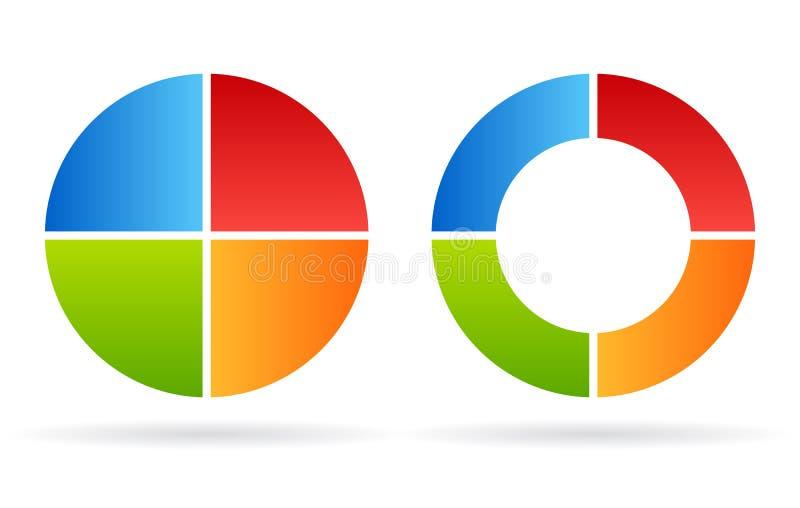 Het diagram van de vier deelcyclus stock illustratie